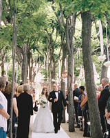 Outdoor Ceremony with Hanging Ribbons and Flowers