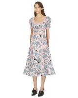 crepe floral mini engagement party dress
