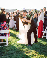 julianne aaron wedding recessional dip