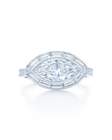 Kwiat Marquise-Cut Platinum East-West Engagement Ring