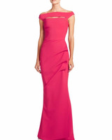 Pink Gown with Peek-a-Boo Neckline