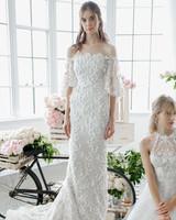 marchesa notte off-the-shoulder three-quarter length sleeves bridal wedding dress-fall2018