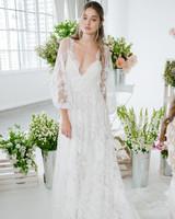marchesa notte long sleeve lace bridal wedding dress fall 2018