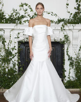 Monique Lhuillier Fall 2018 Off-the-Shoulder Trumpet Wedding Dress