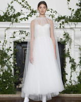 Monique Lhuillier Fall 2018 Tea-Length Tulle Wedding Dress