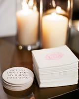 natalie jamey wedding coasters napkins