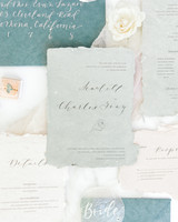 wedding invitation negative space poppy illustration calligraphy