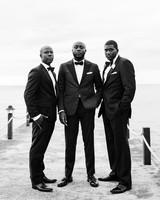 porsha terry wedding jamaica groom groomsmen black white