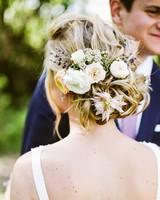 flower hairdo