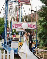 shannon jon wedding couple ferris wheel