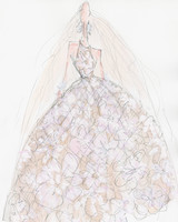 naeem khan wedding dress sketch