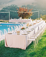 stephanie jared wedding poolside table setting