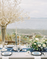 Navy, Cream, and Gray wedding color scheme