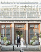 botanic garden wedding couple