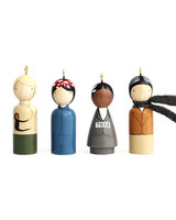 under 50 gift ideas modern women wood ornaments
