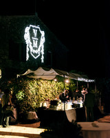 veronica mickias wedding outdoor bar projection