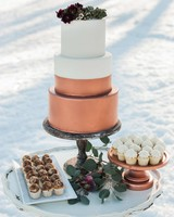 winter wedding cakes and desserts