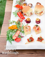 abby elliott bill kennedy wedding appetizers