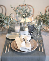 Gray Cream And White Table Settings
