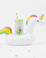 bachelorette party supplies rainbow unicorn drink float