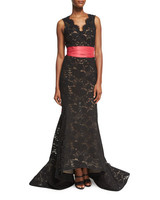 Oscar de la Renta Black Mother of the Bride Dress