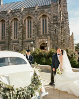 bride groom getaway car