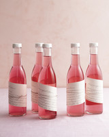 diy bridal shower favors raspberry vodka bottle sp11
