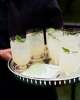 A Tray of Signature Wedding Drinks