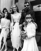 Ringo Starr and Barbara Bach Wedding Photo