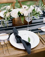 jamie jon wedding monochromatic place setting