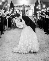 julianne aaron wedding sparkler send off