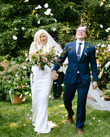 kendall jackson wedding couple and recessional