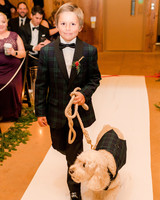 lauren christian christmas wedding ring bearer dog