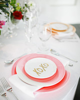 pink bridal shower plates