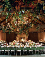 wedding reception tables flowers