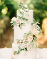 gilded cake with flowers