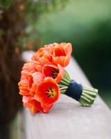 Deep Orange Wedding Bouquet
