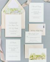 The Freshest Spring Wedding Invitations Martha Stewart Weddings