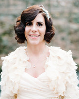 bride wearing vintage accessories