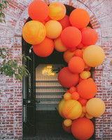 balloon arch over doorway