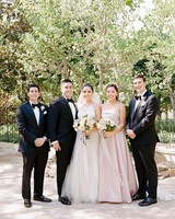 aislinn eric wedding malibu bridesmaid groomsmen