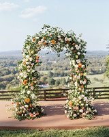 amanda william wedding tennessee floral arch