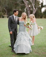 drop waist wedding dress bouquet