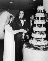 Priscilla and Elvis Presley Wedding Photo