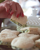 claire thomas bridal shower vintage grabbing sandwich 0814