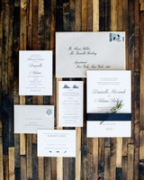 classic city wedding invitation