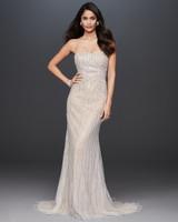 strapless semi sweetheart glitter beaded a-line wedding dress Galina Signature Spring 2020