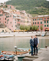 destination engagement couple italian cityscape dock