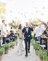 jiannina enzo wedding recessional petals