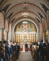 laura john wedding massachusetts church ceremony